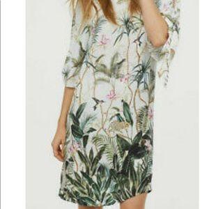 H&M Tropical Split Sleeve Shift Dress 12